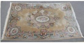 Very large sculpted floral rug