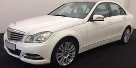 WHITE MERCEDES-BENZ C220 C250 D AMG LINE SPORT SE PREMIUM PLUS FROM £57 PER WEEK