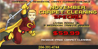 $59.99 Carpet Cleaning Special! Residue-free Carpet Cleaning