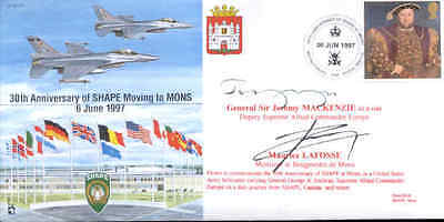CC30c JSCC BFPS SHAPE Belgium double signed RAF cover MACKENZIE & LAFOSSE