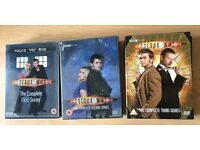 Used Doctor Who Complete seasons, 1, 2 and 3 box sets