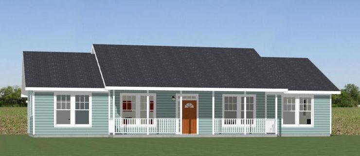 60x30 House -- 4 bedroom 3 Bath -- 1,800 sqft -- PDF Floor Plan -- Model 2