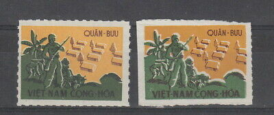 Viet Nam 1961 Military Frank stamps , Litho & Typo MH Cat £100+