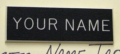 CUSTOM MADE PLASTIC BLACK ENGRAVED NAME TAG FOR US ARMY DRESS UNIFORM