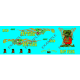 1//64 /'55 Chevy /'Rat Fink/' CUSTOM Decal SCR-0311