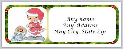 Personalized Address labels Boy in Santa outfit Buy 3 get 1 free (ac 48) - Buy Santa Outfit