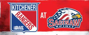 4 Tickets - Kitchener Rangers vs Saginaw Spirit Fri Jan 26