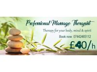 full body MASSAGE therapy / reflexology: 40 pounds/hour