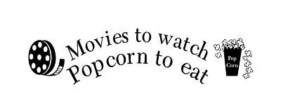 Movies to watch popcorn to eat w/reel box popcVinyl Wall Art Word  Sticker Decor