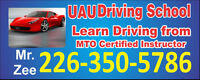 DRIVING ROAD TEST IN WINDSOR