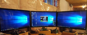 "3x Dell S2740 Black 27"" Monitor"
