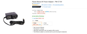 Planet Waves 9V Power Adapter - PW-CT-9V