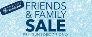 Friends and Family Sale.