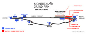 Canada Grand Prix Montreal Weekend Tickets - Granstand 15
