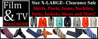 "FILM & TV: Size ""X-LARGE"" Shirts-Pants-Suits-Jackets-Ties-Shoes"