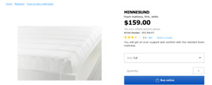 40% off, IKEA Queen size Bed frame with mattress