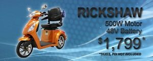 daymack rickshaw 3 wheel scooter