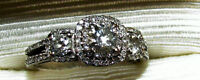 White Gold Engagement Ring Size 8Perfect Condition AMSTERDAM 14K