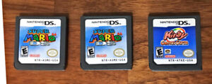 Selling 2x Super Mario 64 DS and 1x Kirby Canvas Curse DS