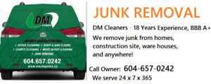 Junk Removal by DM Cleaners | 18+Yrs Exp |  BBB A+ | Free Quote