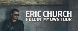 SOLD OUT ERIC CHURCH !!! HOLDIN' MY OWN TOUR TICKETS