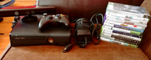 Like new XBox 360 w/Kinect & more