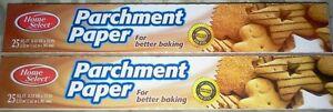 (2 ROLLS) Parchment Paper Nonstick Baking Paper - Cooking Pizza, Etc 50 FT