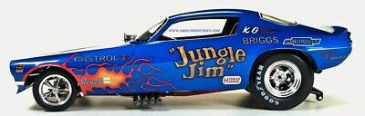NEW PRE-ORDER Legends 1/18 Revell's Jungle Jim FLAMED BLUE Camaro NHRA Funny Car