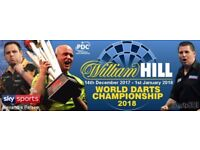 PDC World Darts Championship @ Alexandra Palace | 4 Tickets | Wednesday 20th December 2017