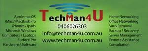 Tech Man 4 U - Apple / mac OS / Microsoft / Windows Gilles Plains Port Adelaide Area Preview