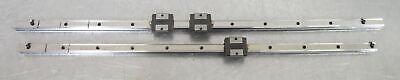 C176944 Lot 2 Thk Linear Slide Rails 628mm 676mm W 3 Sr15v Bearing Blocks