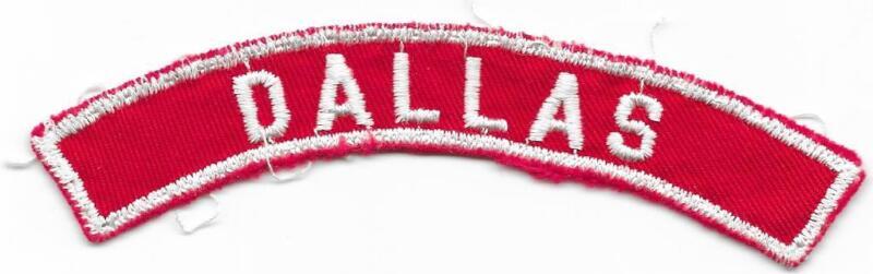 Dallas Red and White RWS Community Strip Vintage Boy Scouts BSA