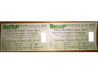 Two good seat tickets for Royal Philharmonic Orchestra City Hall 08 April