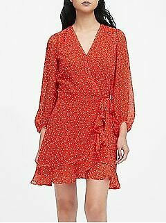 NWT Banana Republic Ruffle-Wrap Dress Size 4,6