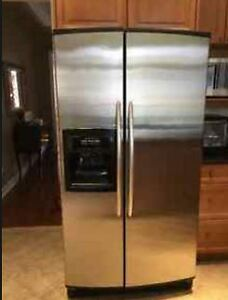 "Stainless Steel 36"" Kitchenaid Fridge For Sale/ Refrigerator"