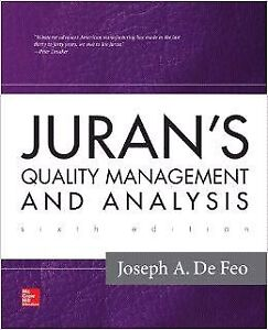 Brand New Juran's Quality Management and Analysis 6th Edition