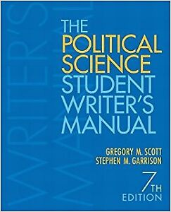 The Political Science Student Writer's Guide (7th edition)