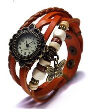 VINTAGE BRACELET LADIES WRIST WATCH - ORANGE