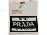 PRADA Crew Neck T-Shirts Brand New With Tags