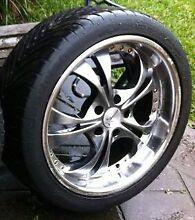 "CHEAP $350!!! x4 18"" Deep Dish Starcorp Wheels w/good tyres!!! Melton South Melton Area Preview"
