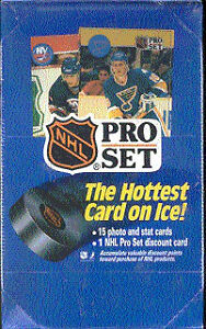 1990-91 PRO SET - SERIES 1 box - chance for STANLEY CUP HOLOGRAM