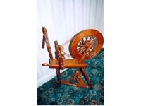 Hand crafted oak Spinning Wheel