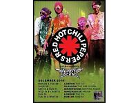 X2 Red Hot Chili Pepper tickets - Manchester - 15th December