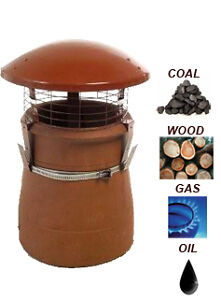 Chimney Pot Rain Cowl for Flue Terracotta