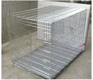 STEEL PET CAGE WITH GALAVANIZED TRAY (VGC)