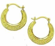 Gold Greek Key Earrings