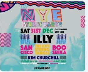 4 x tickets - Cambridge NYE Street Party Jewells Lake Macquarie Area Preview