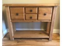 Curtains, Console Table & Nest of Tables (2 year old quality furniture from CFC)