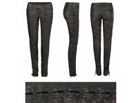 All Saints Leather Trousers 27 waist