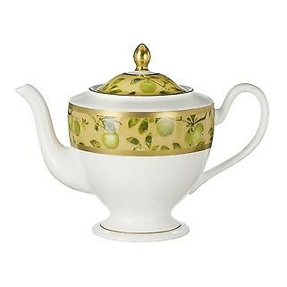 Waterford Golden Apple Fine Bone China Teapot  New In Box